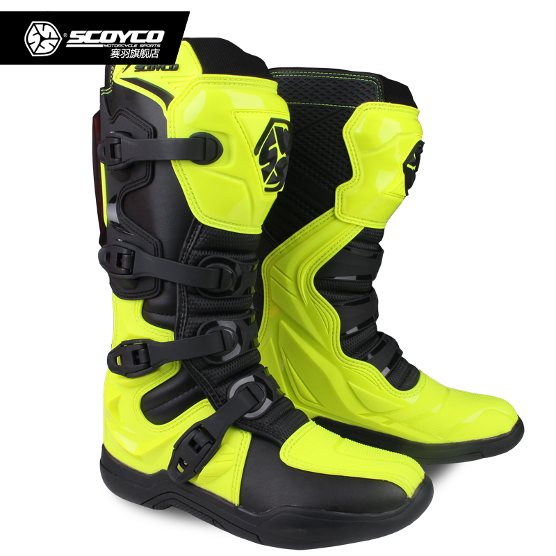 SCOYCO Off road Long Racing gear Boots Motocross Motorbike Riding Long Knee High Shoes Heavy Protective Gear boots MBM003-in Motocycle Boots from Automobiles & Motorcycles    3