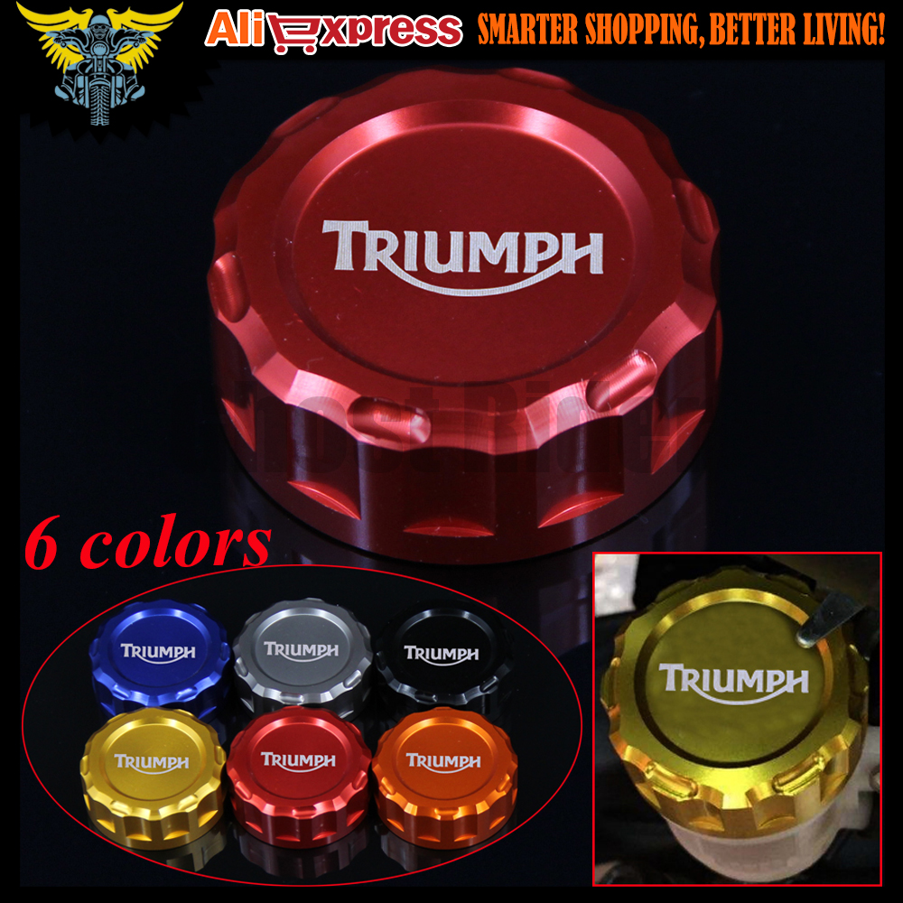 Motorcycle CNC Rear Brake Reservoir Cover Cap For TRIUMPH DAYTONA 675/675 R SPEED TRIPLE 1050/1050 R STREET TRIPLE R TIGER 800 8mm accessories motorcycle swingarm sliders spools bobbin for triumph tiger 800 2011 2013 triumph street triple 675 2007 2013