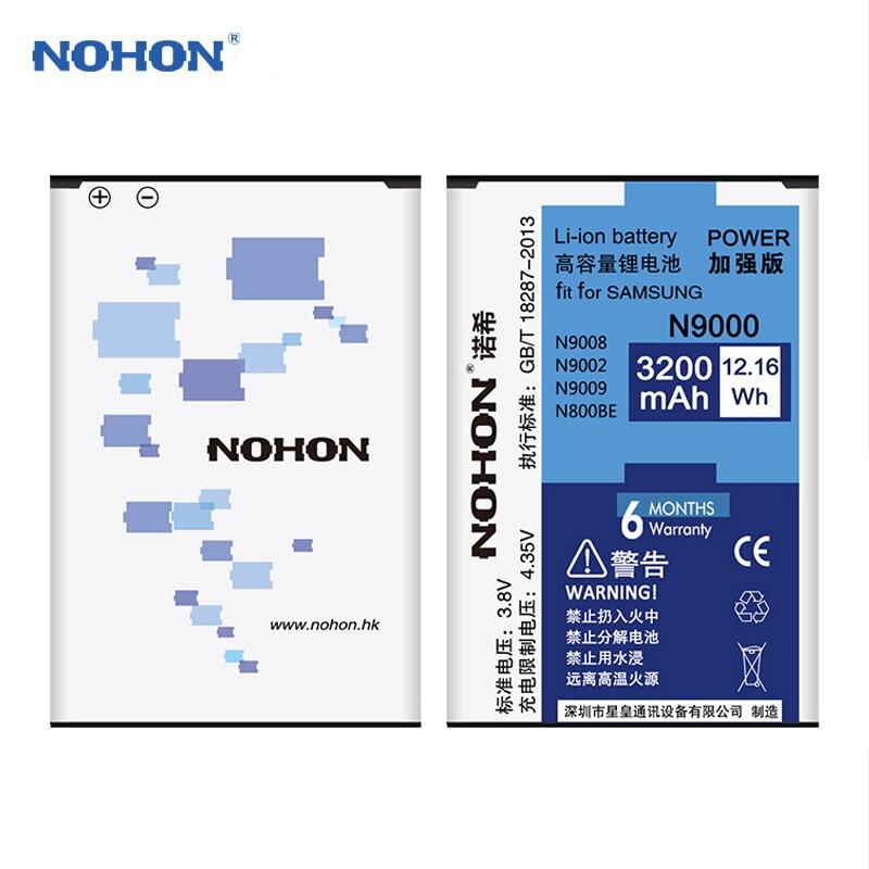 Original NOHON Batterie Für Samsung Galaxy Note 2 3 4 Note2 N7100 Note3 NFC N9000 Note4 N9100 N910X Echt Hohe kapazität Bateria