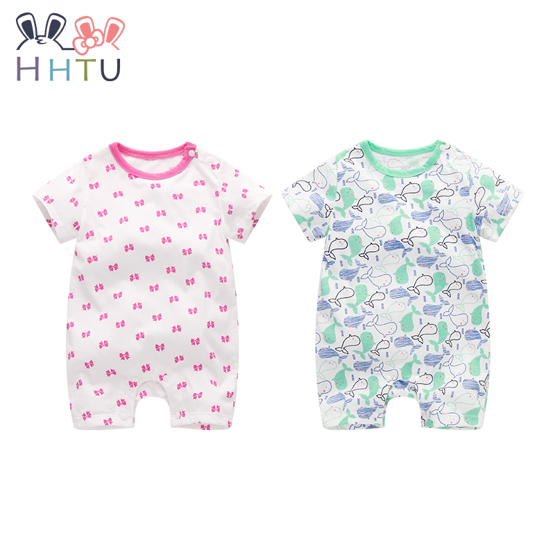 HHTU Cotton Baby Rompers Baby Clothing Boy Girl Romper Cute Jumpsuit Short Cloth for Newborn Infant Product Set Spring Summer