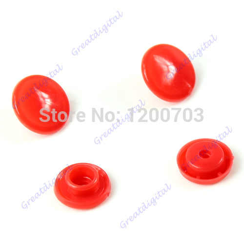 50 pcs/set T5 Plastic Button Resin Snaps Fasteners Dummy Clips Press Studs