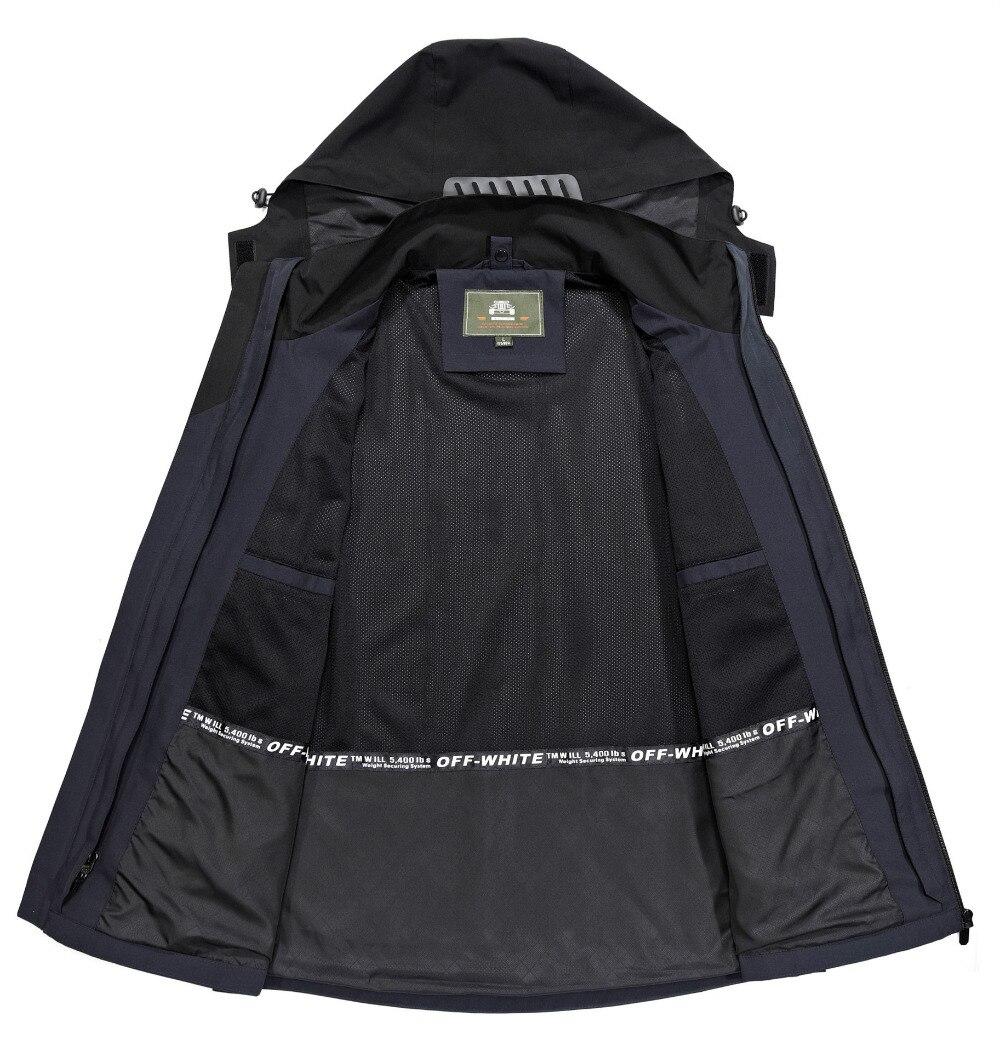 Di black Zhan 1 Blue 185 Vêtements Hommes Veste Parkas Coupe Ji Blue À Pu Pour red Marque dark D'hiver Col vent Capuche 2 En WeQrdxCBo