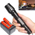 Free shipping 2200 Lumens CREE xml T6 high power adjustable led 18650 flashlight  Charger+2*18650 battery