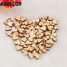 AIMECOR AIMECOR Top Grand 100pcs Rustic Wood Wooden Love Heart Wedding Table Scatter Decoration Crafts DIY Dropship Mar 6