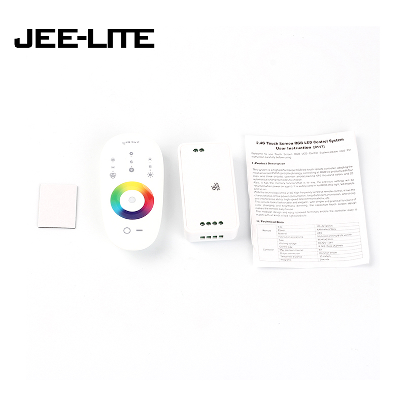 Lighting Accessories Sunny Dc12-24v 6a/channel Rf Remote Controller Led Controller Rf2.4 G Touch Screen Led Rgb Controller For Led Strip-blub-downlight