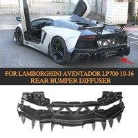 Углеродного волокна заднего бампера спойлер диффузор чехол для Lamborghini Aventador LP700 LP700 4 родстер Pirelli 10 16 г Стиль
