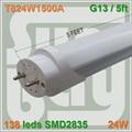 20 pçs/lote frete grátis de Boa qualidade tubo de lâmpada LED T8 24 W 1500mm 1.5 M 150 cm 5FT compatível com indutivo arranque lastro remove