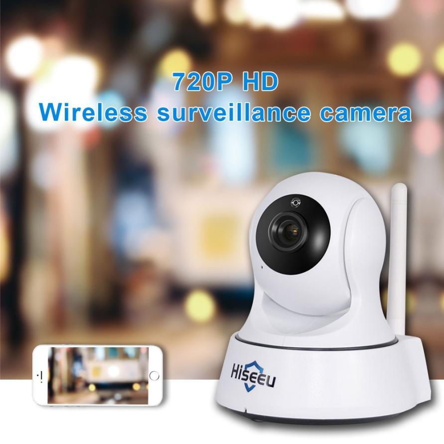 Hiseeu 720p camara de vigilancia ip network wifi wireless - Camara de seguridad ip ...