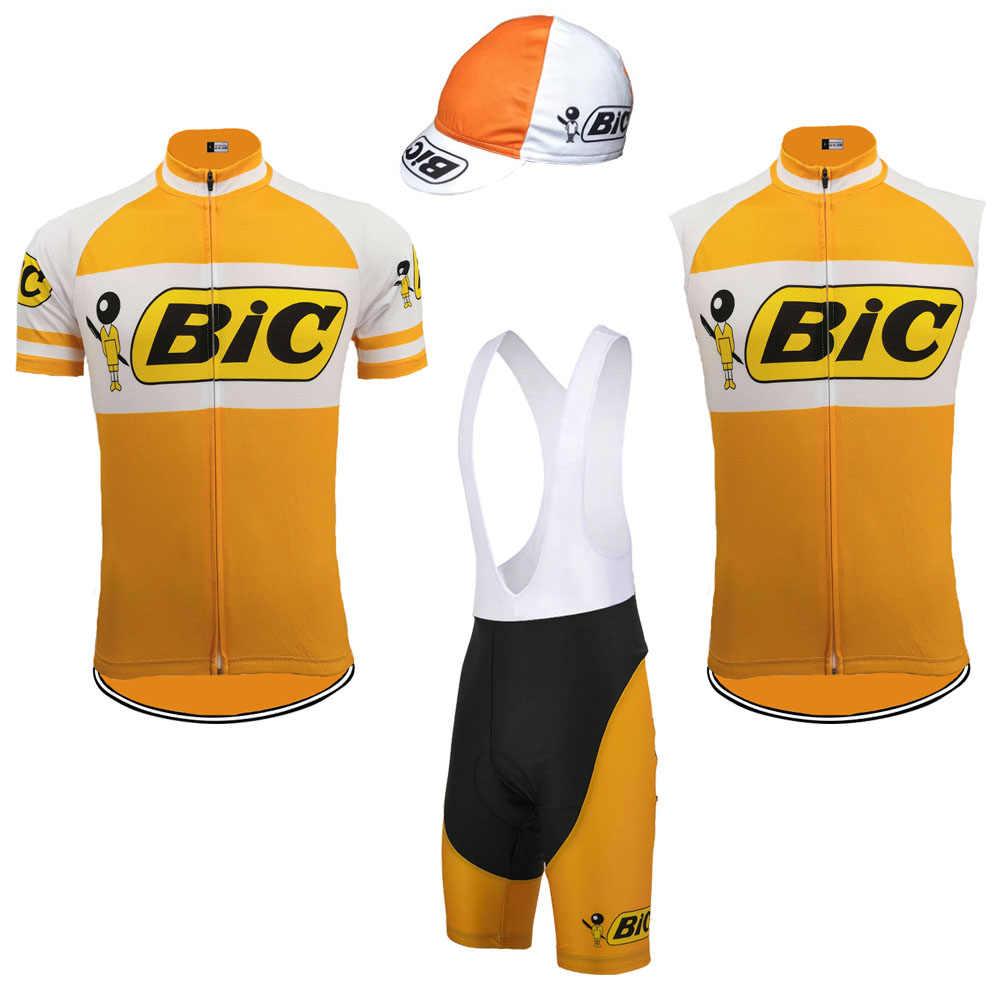 BIC vest Men cycling jersey short sleeve sleeveless clothing bike classic  wear jersey set bib 1cf075845