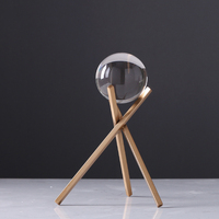 Northern Europe Metal crystal ball ornaments after modern minimalist Home Furnishing model study room office decor