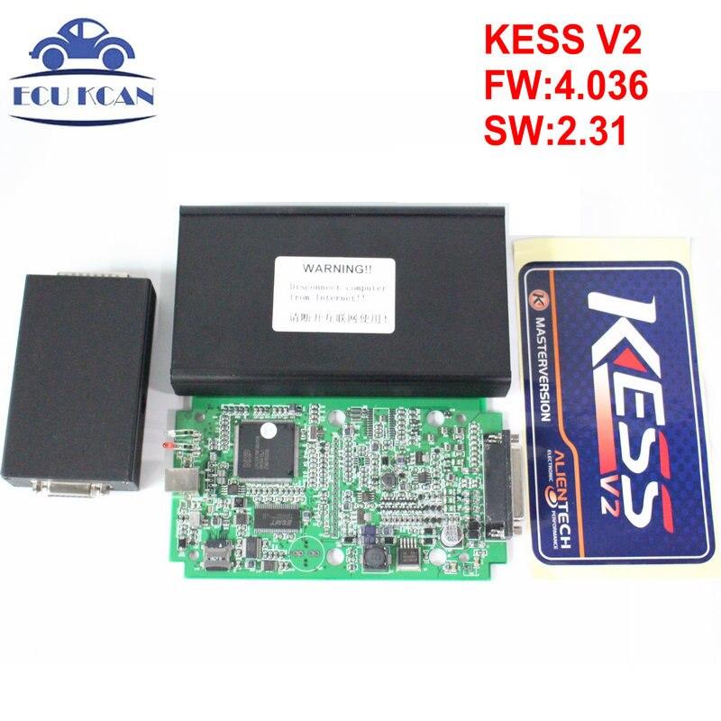 Цена за KESS V2 V2.31 Основной блок 4.036 KESS мастер OBD2 менеджер Тюнинг Комплект без ограничения маркеров ECM Титан Программное обеспечение ЭБУ чип инструмент настройки
