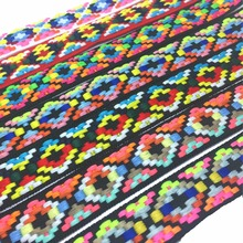 ZERZEEMOOY 1 25mm 10Y OR 50Y PAVKING 7 colour Geometric Jacquard Ribbon belts straps dog chain parts lace QDZD170314