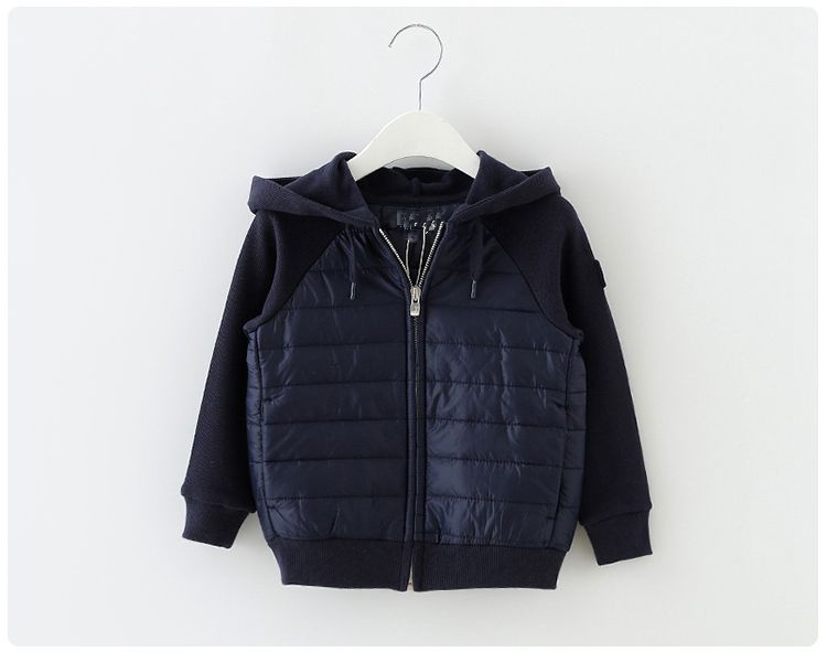 new children thin children leisure cotton padded jacket Hooded Jacket thin spider net mosaic elche