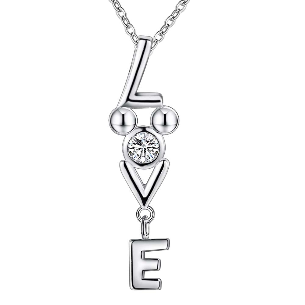 letter l e v bling wholesale silver plated necklace new sale silver necklaces