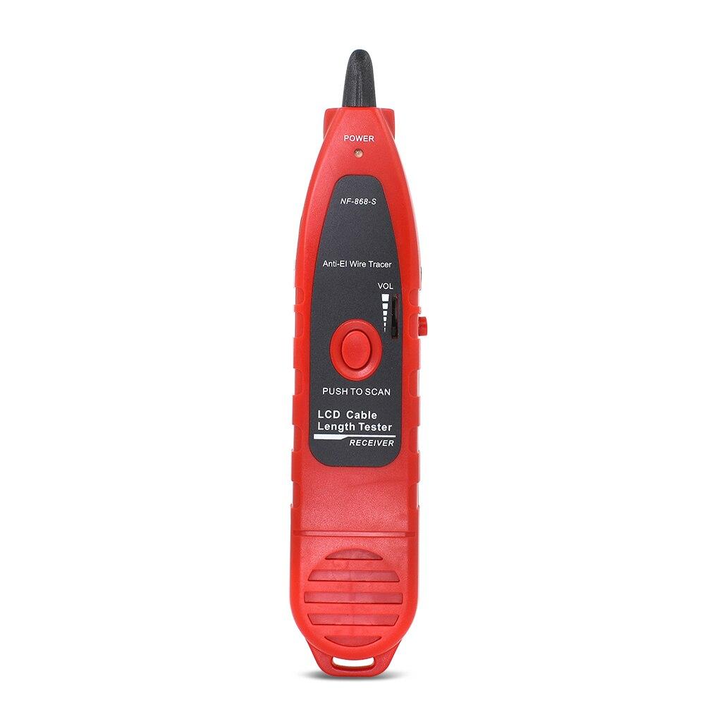 NOYAFA NF-868 RJ11 RJ45 LAN testeur de longueur de câble réseau diagnostiquer tonalité BNC USB ligne métallique téléphone fil Tracker outils de réseau - 4