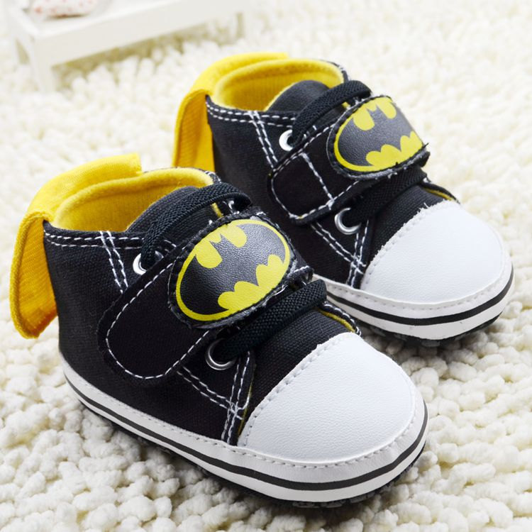 Classic Cartoon Superman Batman Baby Boy Shoes Toddler Girl Baby Shoes Totem Prints Infants Casual Sport Sneakers 0-18Months 367