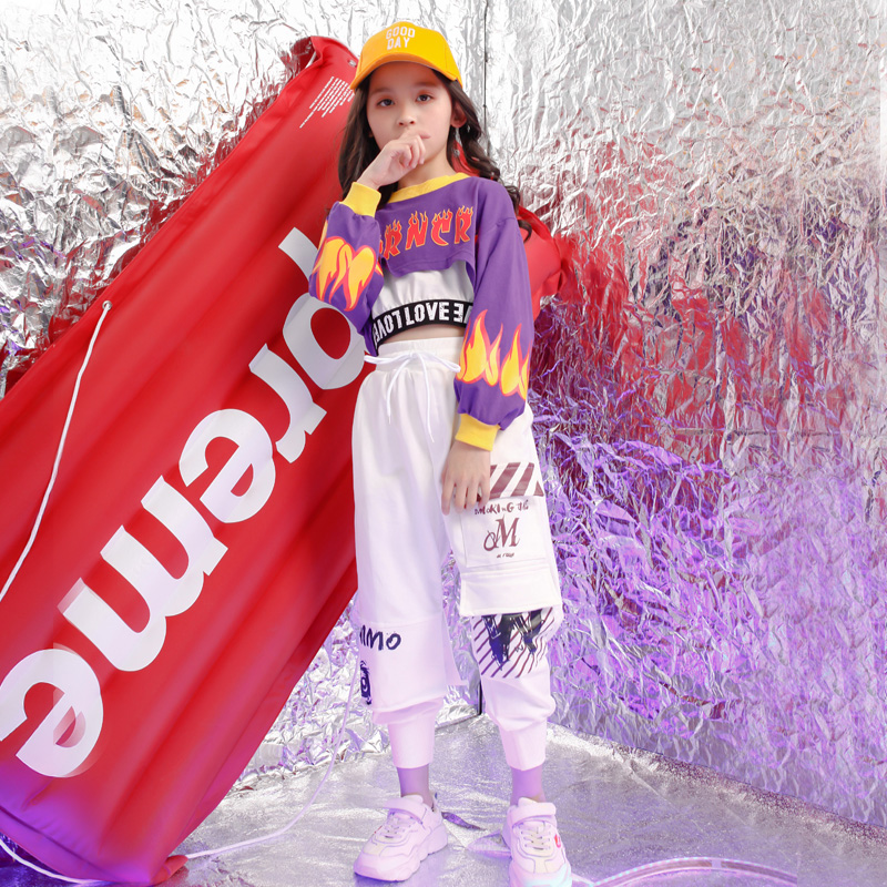 Kids Carnival Hip Hop Costumes Girls Modern Jazz Ballroom Dance Clothes Performance Stage Wear Dancing Clothing Suits Outfits