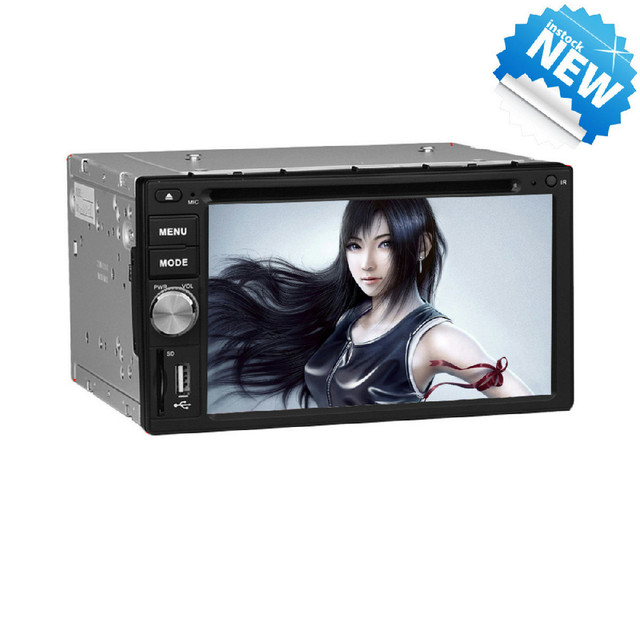 Free Shipping  Universal 2 Din Car dvd player With GPS Bluetooth TV Steering Wheel Control  Full Function