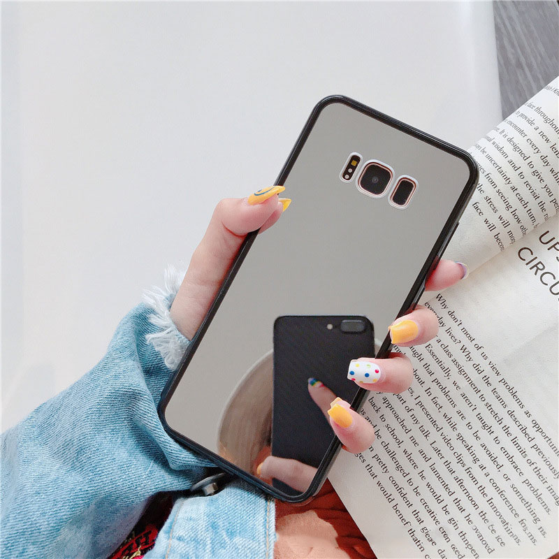 Image 5 - Luxury Bling Makeup Mirror Phone Case For Samsung S8 S9 S10 Plus S7 Edge A5 2017 J6 Plus A50 A70 NOTE 9 Shockproof TPU Cover-in Fitted Cases from Cellphones & Telecommunications
