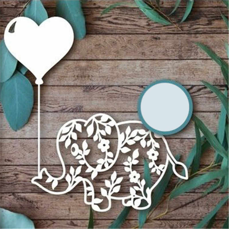 GJCrafts Elephant Dies Animal Metal Cutting Dies for Scrapbooking Die Cut Stitch Craft Dies Troqueles New Die for 2019 Stencil