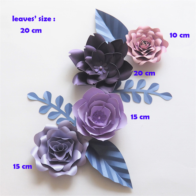 Aliexpress Com Buy Diy Giant Paper Flowers Backdrop Artificial