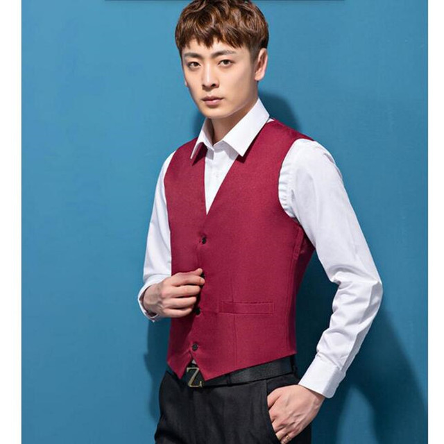 New Design Navy Blue Mens Suit Vests Custom Made Prom Party ...