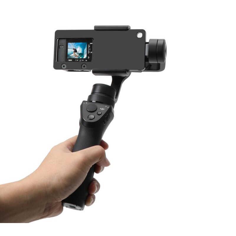 Adaptateur de montage en aluminium assembler plaque de montage pour DJI Osmo mobile/Zhiyun lisse Q/Smartphone adaptateur de cardan pour Sony DSC-RX0