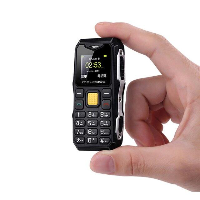 Melrose mini barra de bolso militar telefone longa espera grande voz lanterna fm único sim tamanho menor telefone móvel reposição p105