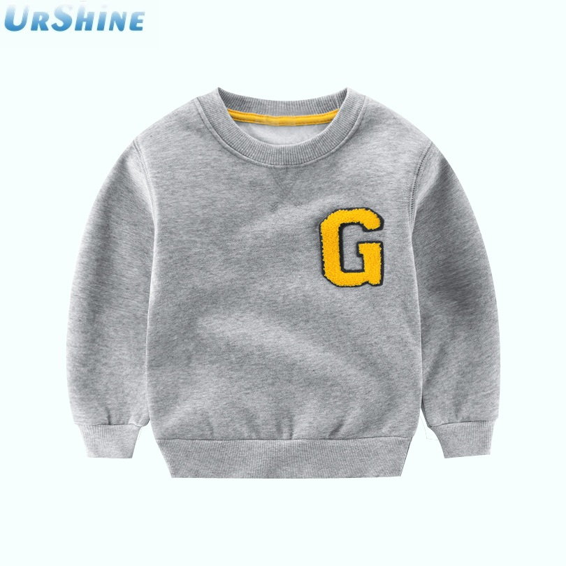 Boys Clothing Wear Comfortable And Soft Blouse Sweatshirt Letters Solid Pattern Casual 2018 Boys Girls Baby Long Sleeve
