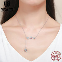 Authentic 100 925 Sterling Silver Spring Collection Daisy Flower Pendants Necklace For Women Necklaces Femme Collar