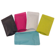 100 Pcs Colorful Aluminum Mylar Foil Food Zipper Bag, Heat Sealable Stand Up Coffee Tea Plastic Packaging Pouch