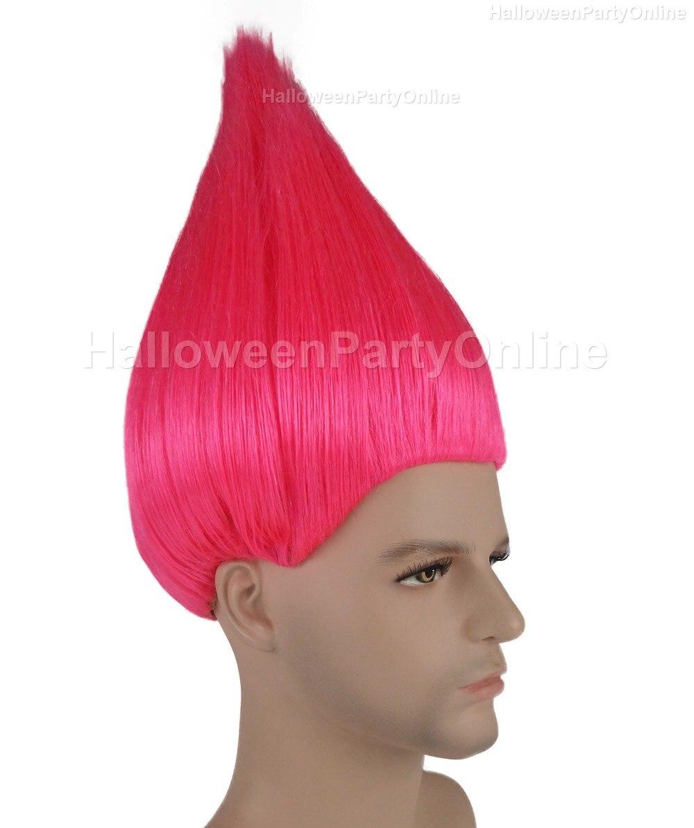 Halloween Party Online Trolls Wig Neon Pink Costume Cosplay HM 078 ...