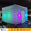 2016 Entrega Gratuita maravilla cubo tipi carpa inflable llevó la iluminación photo booth para la tienda de juguetes