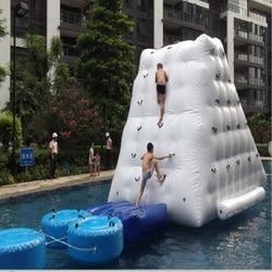 Водные скалолазание или водный Айсберг надувная игрушка Размер 2,5*2,5*2,1 играя в летний аквапарк используется