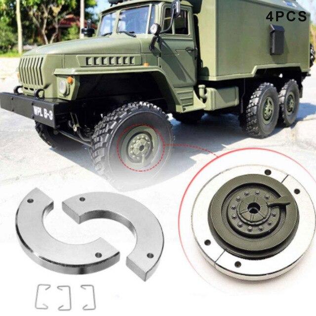 4 piezas de la rueda de Metal OP de contrapeso para WPL 1/16 coche RC B14 B16 B24 B36 B14K B24K C14K YJS dropship