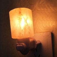 Mini Hand Carved Himalayan Salt Lamp Natural Crystal Salt Rock Nursery Wall Night Light Plug In