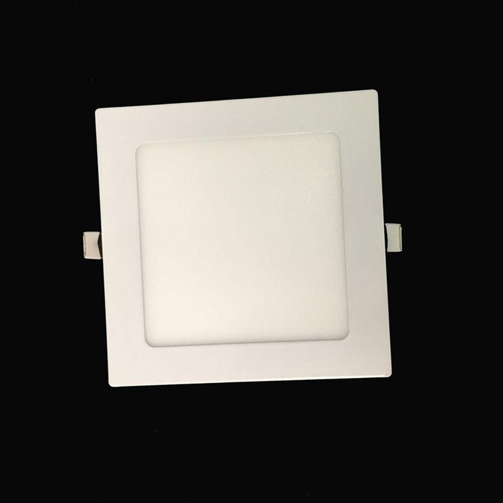 Downlights redondo/quadrado levou recesso luz ac85-265v Shape : Square