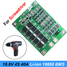 цена на NEW 4S 40A Li-ion Lithium Battery 18650 Charger PCB BMS Protection Board with Balance For Screwdriver 16.8V Lipo Cell Module  jy