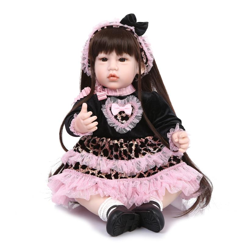 22 inch 52cm  baby reborn  Silicone dolls, lifelike doll reborn babies toys for girl princess gift brinquedos  Children's toys! hot sale toys 45cm pelucia hello kitty dolls toys for children girl gift baby toys plush classic toys brinquedos valentine gifts