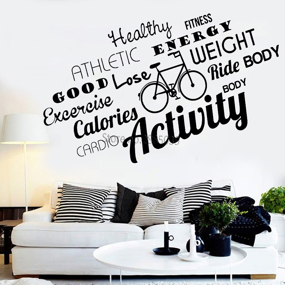 Newest Design Vinyl Wall Decal Healthy Lifestyle Sport