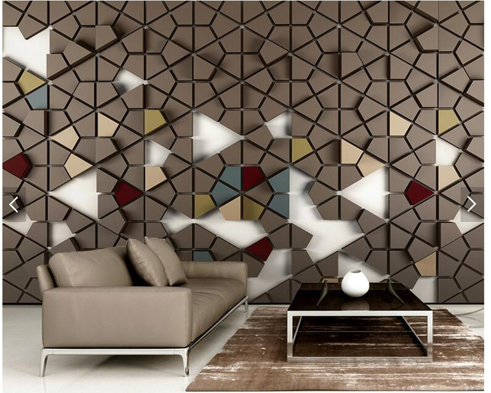 Custom wallpaper 3d stereoscopic, polygon tile wallpaper murals for living room bedroom tv backdrop wall home decor wallpaper 3d stereoscopic large mural custom wallpaper living room tv backdrop wall paper bedroom wall painting cartoon film kung fu panda