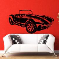 Wall Decals Retro Car Auto Classic Old Living Room Bedroom Vinyl Decor