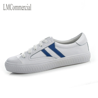 2017 autumn, the new layer of leather shoes, women's singles tie UPS, small white shoes, flat bottom big yards, leisure shoes fo
