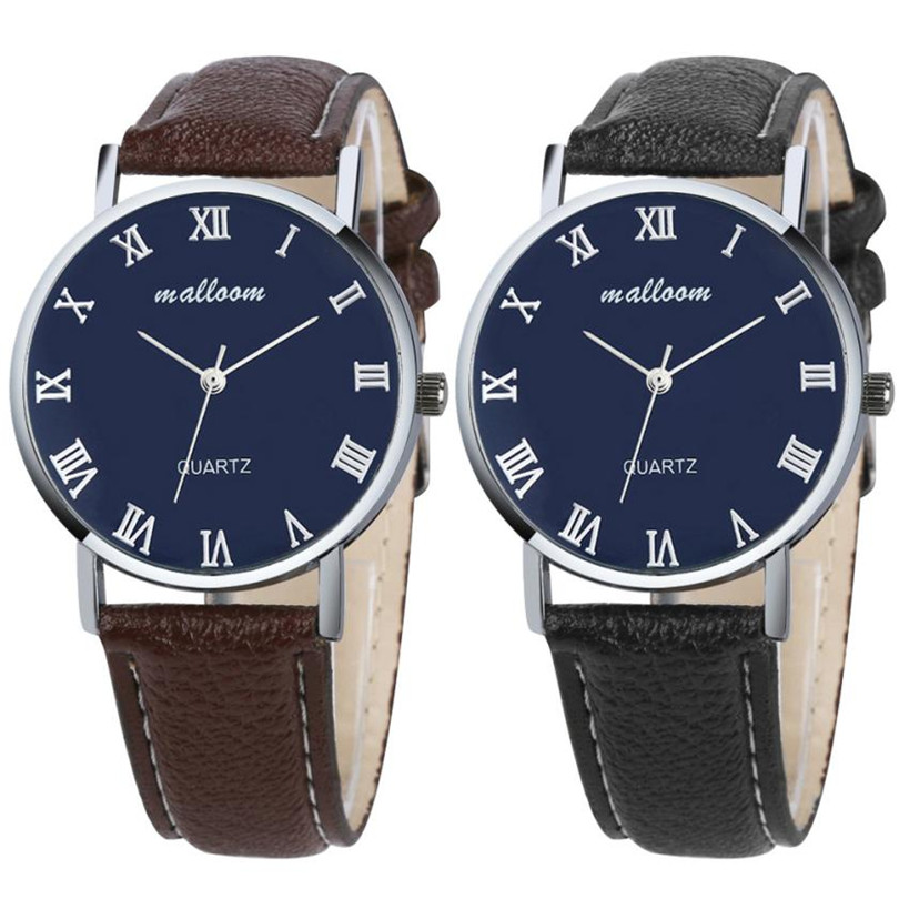 Durable watch men Luxury Fashion Faux Leather Mens Analog Watch Watches New relogio masculino durable watch men luxury brand relogio masculino men watch faux leather men blue ray glass quartz watch