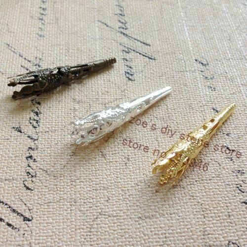 8*40MM 300Pcs Trombone Shape Metal Bead Caps DIY Jewelry Findings Accessories