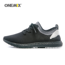 ONEMIX New Man Running Shoes For Men Olympic Athletic Trainers Black Zapatillas Sports Shoe Outdoor Walking Sneakers Free Ship