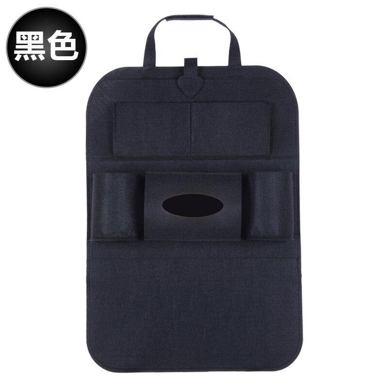 Дропшиппинг, чехлы для автомобиля, дизайн, модное автомобильное сиденье, для хранения, стильная многофункциональная сумка на заднюю часть, детское сиденье, для покупок, для автомобиля - Цвет: Ordinary black