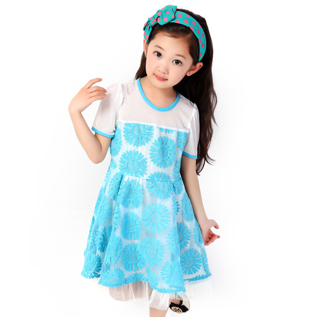 2013 female child skirt one-piece dress embroidered organza skirt one-piece dress
