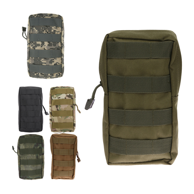 Portable Airsoft Molle Tactical Pouch Waist Bag Uni Nylon Military Medical First Aid Sling Case