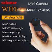 Volemer Round Mini Camera Camcorder 1080P Wide Angle 150 Degree Invisible Video Recording Motion Detection Wireless Micro Cam